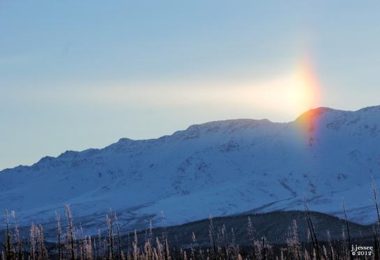 Sun Dog near Tok Alaska